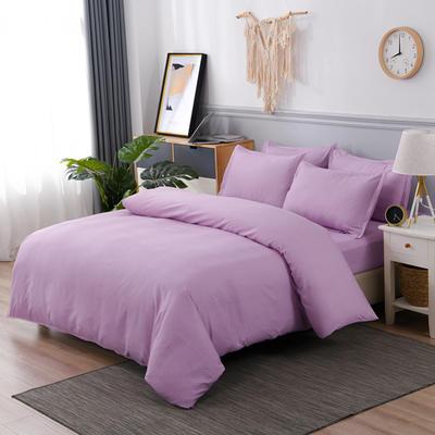2020新款植物羊绒四件套场景六 1.2m三件套(4英尺)床 文黛-紫