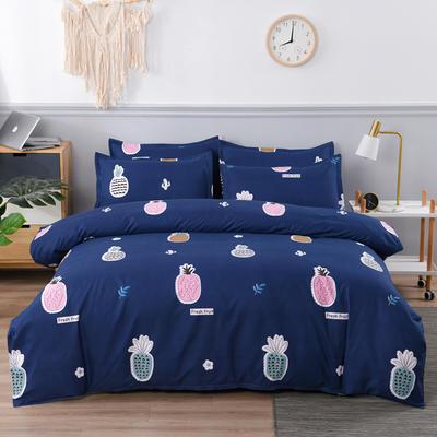 2020新款植物羊绒四件套场景五 1.2m三件套(4英尺)床 菠萝派