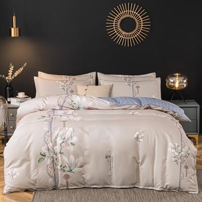 2020新款-植物羊绒四件套高克重斜纹多规格 三件套1.2m(4英尺)床 繁花似锦