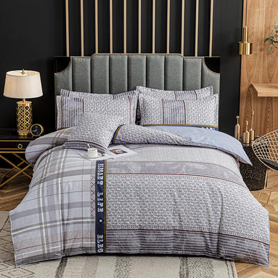 2020新款-植物羊绒四件套高克重斜纹多规格 三件套1.2m(4英尺)床 旅行意义