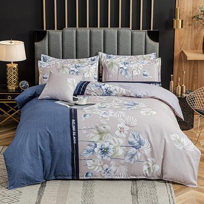 2020新款-植物羊绒四件套高克重斜纹多规格 三件套1.2m(4英尺)床 盛夏风景