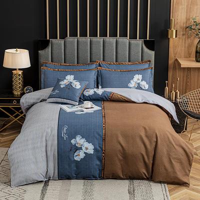 2020新款-植物羊绒四件套高克重斜纹多规格 三件套1.2m(4英尺)床 寻梦人生