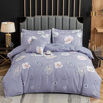 2020新款-植物羊绒四件套高克重斜纹多规格 三件套1.2m(4英尺)床 悦诗风吟