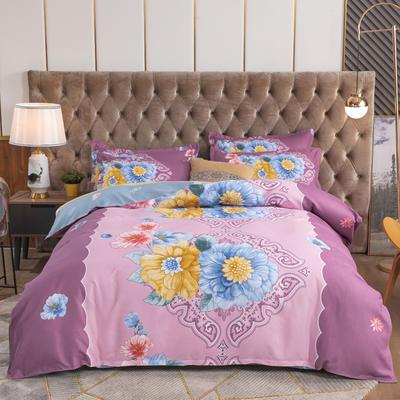 2020新款-植物羊绒四件套大版 1.5m床单款四件套 绚丽多彩