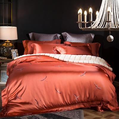马上云婵丝色织系列四件套 标准(1.5m-1.8m床) 拉菲庄园-妮卡桔