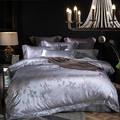 马上云婵丝色织系列四件套 标准(1.5m-1.8m床) 米兰之夜