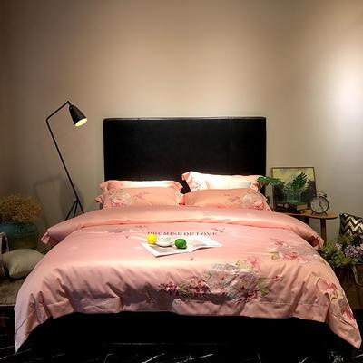 马上云长绒棉绣花系列四件套(爱的承诺 2) 标准1.5-1.8m床 玉色