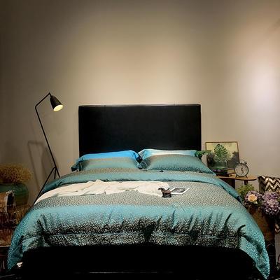 马上云婵丝色织系列四件套(实拍图) 标准1.5-1.8m床 费列罗-松石绿