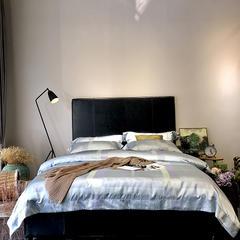 马上云婵丝色织系列四件套(实拍图) 标准1.5-1.8m床 罗马假日-兰