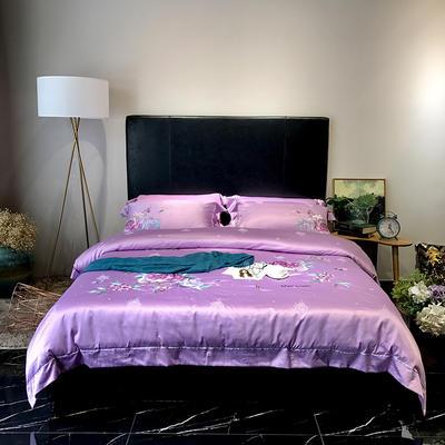 2018碧玉妆成(实拍图)四件套 1.8m(6英尺)床 魅力紫