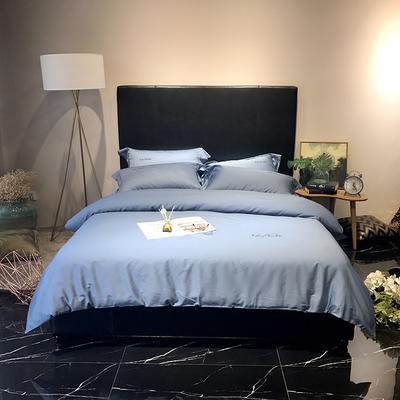 2018巧克力系列实拍图四件套 1.8m(6英尺)床 宝石蓝