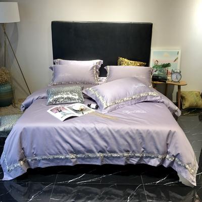 20198新款100支提花四件套 1.8m(6英尺)床 优雅紫