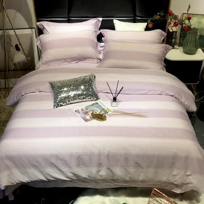 2018新款60长绒棉印花(实拍图) 1.5m-1.8m(床单款) 克里娜-丁香紫