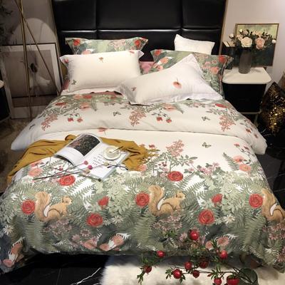 2018新款60长绒棉印花(实拍图) 1.5m-1.8m(床单款) 爱丽丝