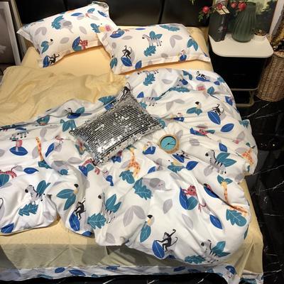 2019新款全棉133372祖玛珑系列四件套 1.5m(5英尺)床 乖乖兽
