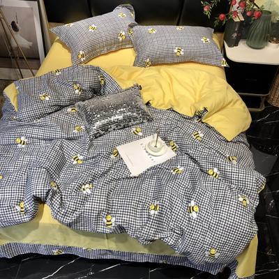 2019新款全棉133372祖玛珑系列四件套 1.5m(5英尺)床 小蜜蜂