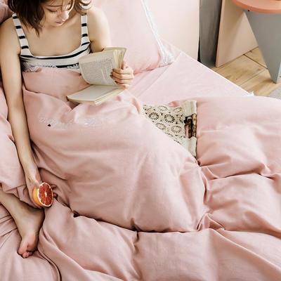 2019新款全棉加韩国绒四件套-布拉格系列 1.5m床单款 粉玉