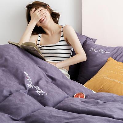 2019新款全棉加韩国绒四件套-布拉格系列 1.5m床单款 紫罗兰