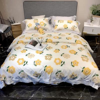 2020新款蕾丝全棉海岛棉系列四件套 1.8m床单款 戴莉雅