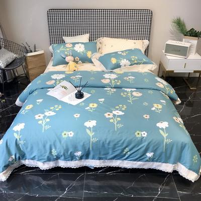 2020新款蕾丝全棉海岛棉系列四件套 1.8m床单款 可可佳人