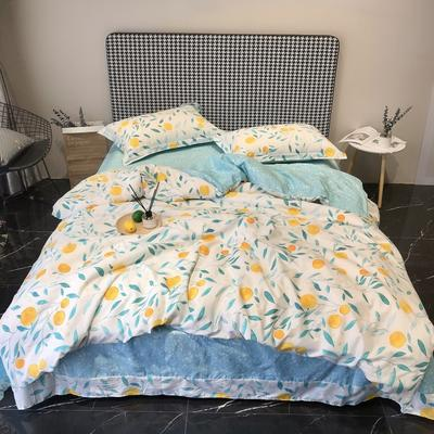 2020新款40s13372全棉印花系列四件套 1.8m床单款 桔香