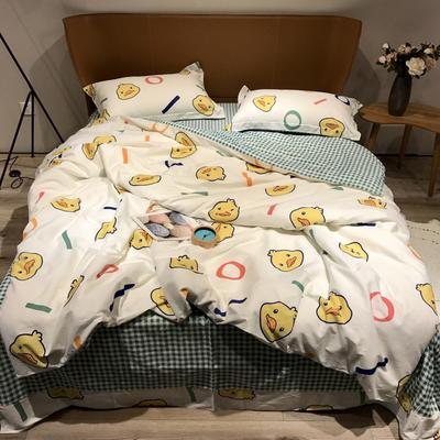 2020新款40s13372全棉印花系列四件套 1.8m床单款 大黄鸭
