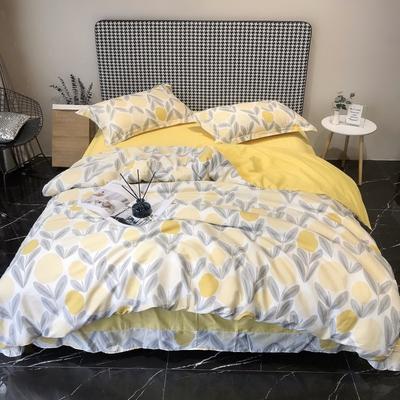 2020新款40s13372全棉印花系列四件套 1.5m床单款 一颗柠檬