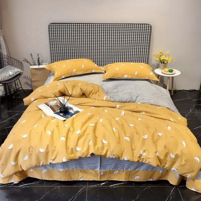2020新款40s13372全棉印花系列四件套 1.5m床单款 莎莉