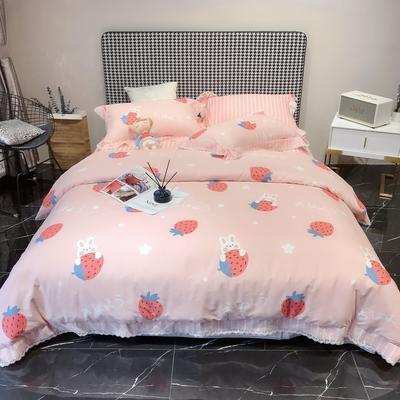2020新款蕾丝全棉海岛棉系列四件套 1.5m床单款 开心兔