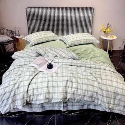 2020新款40s13372全棉印花系列四件套 1.5m床单款四件套 憧憬-绿