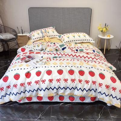 2020新款40s13372全棉印花系列四件套 1.5m床单款四件套 朵朵