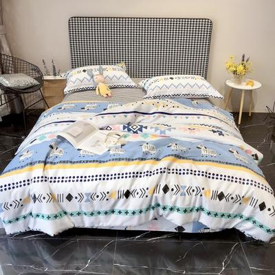 2020新款40s13372全棉印花系列四件套 1.5m床单款四件套 小斑马