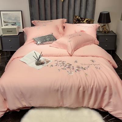 2020新款60长绒棉工艺款四件套 -罗密欧 1.8m床单款四件套 萝莉粉