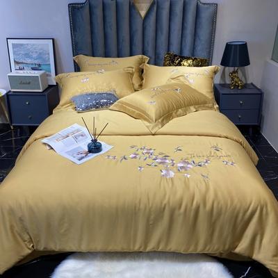 2020新款60长绒棉工艺款四件套 -罗密欧 1.8m床单款四件套 柠檬黄