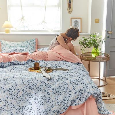 2020新款罗卡棉系列四件套 1.8m床单款四件套 美杜莎-水兰