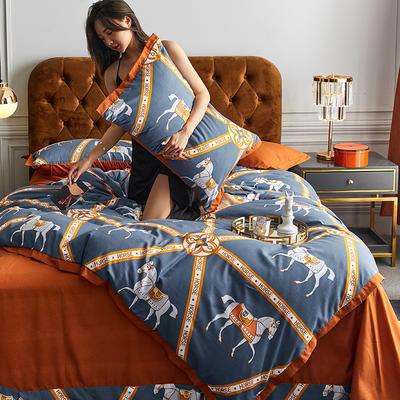 2020新款罗卡棉系列四件套 1.8m床单款四件套 波兰-活力橙