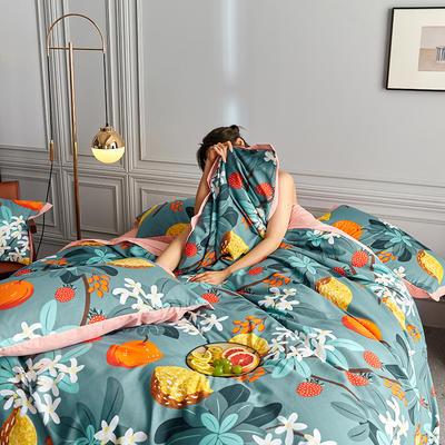 2020新款罗卡棉系列四件套 1.8m床单款四件套 初春
