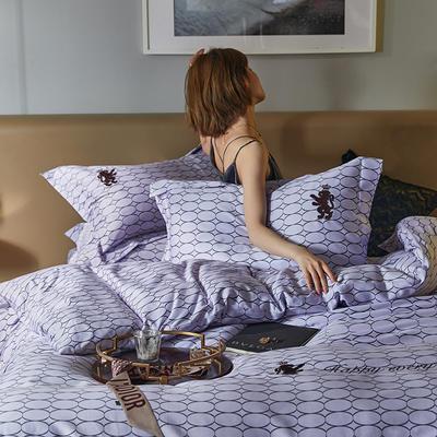 2020新款100支高定工艺四件套-摩登(电子图) 1.8m床单款四件套 香芋紫