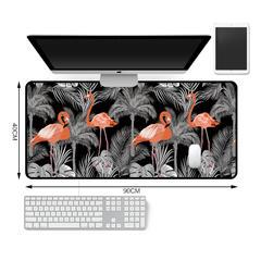 新款电脑桌垫地垫 30*80 40*90cm 云朵家居 30*80cm 火烈鸟-灰