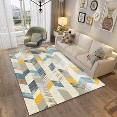 北欧客厅地毯沙发茶几地垫子简约现代卧室床边地垫可爱房间家用 80*160cm ZZR-01