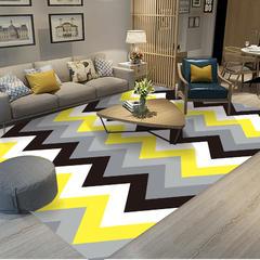 北欧客厅地毯沙发茶几地垫子简约现代卧室床边地垫可爱房间家用 80*160cm ZZR-02
