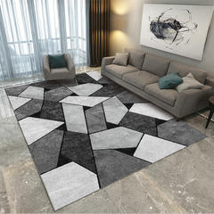 北欧客厅地毯沙发茶几地垫子简约现代卧室床边地垫可爱房间家用 80*160cm ZZR-03