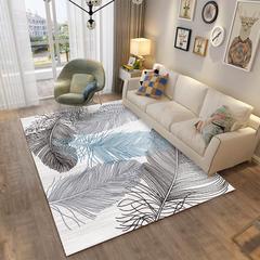 北欧客厅地毯沙发茶几地垫子简约现代卧室床边地垫可爱房间家用 80*160cm ZZR-14