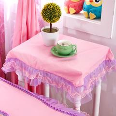 全棉斜纹13372系列床裙款四件套-蝶语之恋(床头柜罩) 粉色