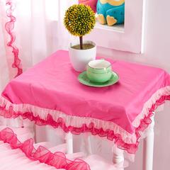 全棉斜纹13372系列床裙款四件套-蝶语之恋(床头柜罩) 玫红