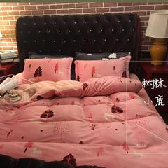 高品质超细宝宝绒四件套 1.2m(4英尺)床(床单款) 树林小鹿