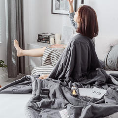2019新款水洗棉夏被 110x150cm 深灰色