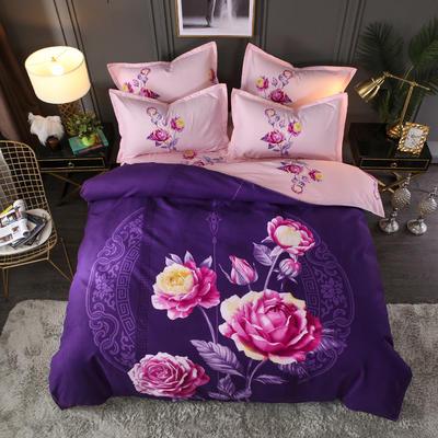 2019新花色大版植物羊绒 1.5m床 12念初-紫