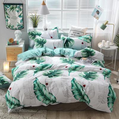 2019新款芦荟棉四件套 1.m床三件套 热带雨林