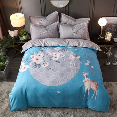 2019新花色大版植物羊绒四件套总汇 1.5m床单款四件套 春暖花开